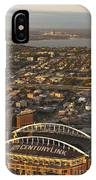 Aerial View Of Bellevue Skyline And Century Link  IPhone Case