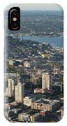Aerial View Of Space Needle And Lake Union IPhone Case