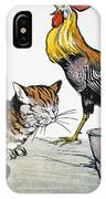 Aesop: Cat, Cock, And Mouse IPhone Case