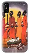 African Christmas Nativity IPhone Case