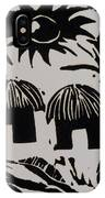 African Huts White IPhone Case