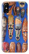 African Tribal Masks In Sidi Bou Said IPhone Case