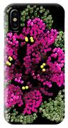 African Violets Bedazzled IPhone Case