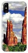 Afternoon Cathedral Rocks Saddle View Red Rock State Park Sedona Arizona IPhone Case