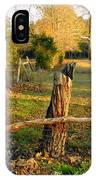 Afternoon Orange Gold Glow On Old Broken Fence IPhone Case
