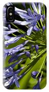 Agapanthus Flower And Bee IPhone Case