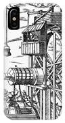 Agricola Waterwheel, 1556 IPhone Case