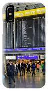Airport Departure Board Frankfurt Germany IPhone Case