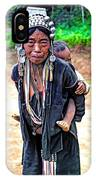 Akha Tribe Paint Filter IPhone Case