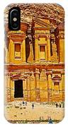 Al-dayr Or The Monastery In Petra-jordan  IPhone Case