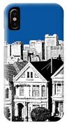 Alamo Square -  Royal Blue IPhone Case