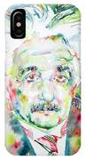 Albert Einstein Watercolor Portrait.1 IPhone Case