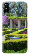 Alcazar Garden Vibrant Color Display Balboa Park IPhone Case