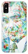 Aldous Huxley - Watercolor Portrait IPhone Case
