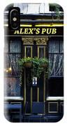 Alex's Pub IPhone Case