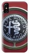 1961 Alfa Romeo Giulietta Sprint Veloce Series II Emblem -1045c IPhone Case