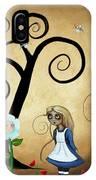 Alice In Wonderland Art - Alice And Flowers IPhone Case