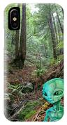 Alien In Redwood Forest IPhone Case