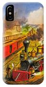 All Aboard The Lightning Express 1874 IPhone Case