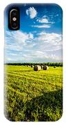 All American Hay Bales IPhone Case