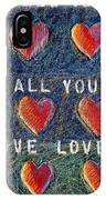 All You Need Is Love 2 IPhone Case