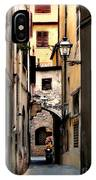 Alley In Florence 1 IPhone Case