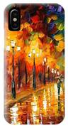 Alley Of The Memories - Palette Knife Oil Painting On Canvas By Leonid Afremov IPhone Case