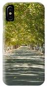 Alley Of Trees On A Summer Day IPhone Case