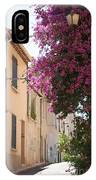 Alley With Bougainvillea - Provence IPhone Case