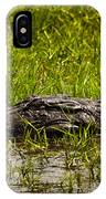 Alligator Amoungst Us IPhone Case