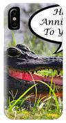 Alligator Anniversary Card IPhone Case