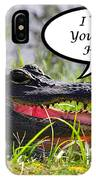 Alligator Greeting Card IPhone Case