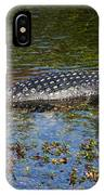 Alligator Swimming In Blue Water IPhone Case