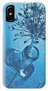 Allium Cyanotype IPhone Case
