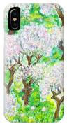 Almond Trees And Leaves IPhone Case