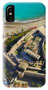 Almunecar Castle From The Air IPhone Case