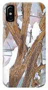 Alone In The Snow Storm IPhone Case