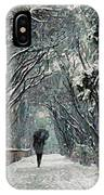 Alone In The  Winter IPhone Case