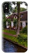 Along The Canal. Giethoorn. Netherland IPhone Case