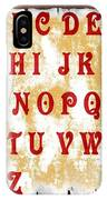 Alphabet With Scroll 2 IPhone Case