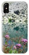 Alpine Lake And Flora IPhone Case