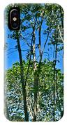 Alternate Reality - Reflected View Of The Forest From A Pond In Garland Ranch Park In Carmel Valley. IPhone Case