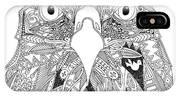 Amarican Eagle Black White IPhone Case