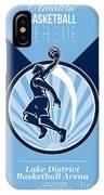 Amateur Basketball League Retro Poster IPhone Case