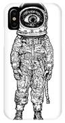 Amazement Astronaut. Vector Illustration IPhone X Case
