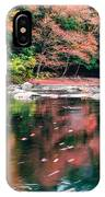 Amazing Fall Foliage Along A River In New England IPhone Case