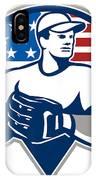 American Baseball Pitcher Gloves Retro IPhone Case