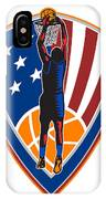 American Basketball Player Dunk Ball Shield Retro IPhone Case