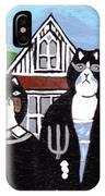American Cat Gothic IPhone Case