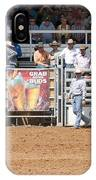 American Cowboy Bucking Rodeo Bronc IPhone Case